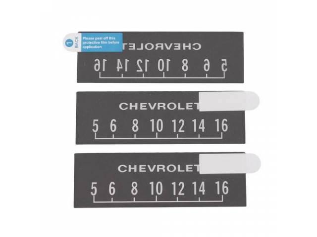 Screen Protectors 3 White Chevrolet W/ Block Lettering