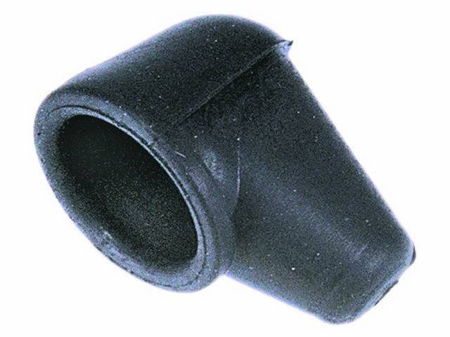 BOOT, Alternator Power Wire, Black rubber boot used