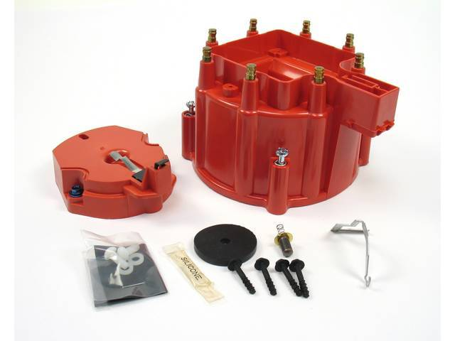CAP AND ROTOR KIT, H.E.I. Distributor, Pertronix, Red,