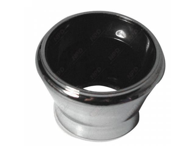 Bezel Lighter Chrome W/ Gloss Black Trim Plastic