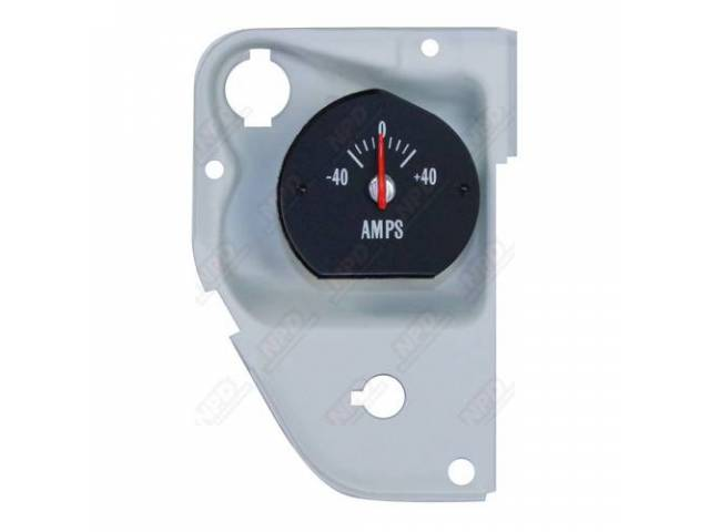 GAUGE, Electric Output / Ammeter, w/ bracket, correct