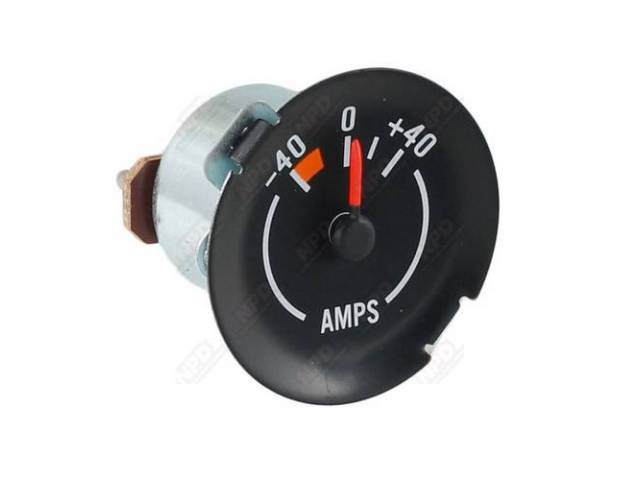 Gauge Electric Output / Ammeter Correct Black Face
