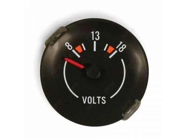 Gauge Electric Output / Volts Correct Black Face