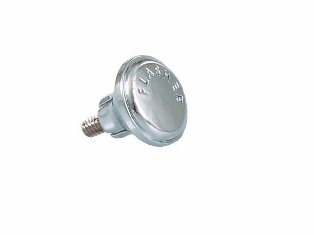 Knob Hazard Switch 1-Piece Screw-In Design Chrome Finish