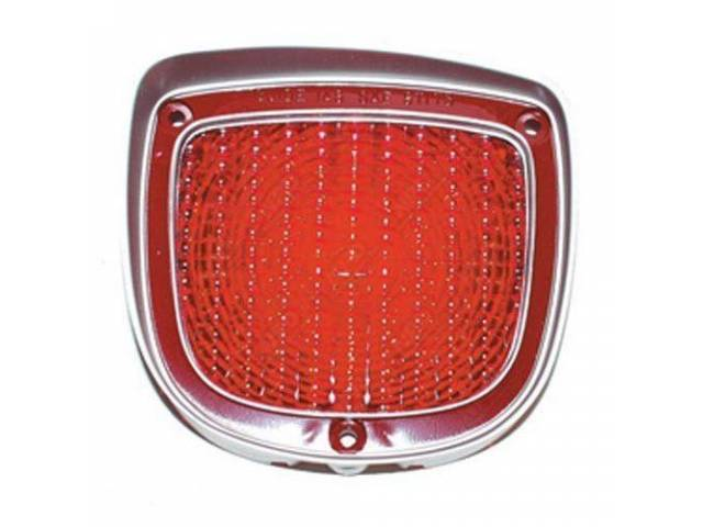 LENS, Tail Light, LH, US-made OE Correct Repro