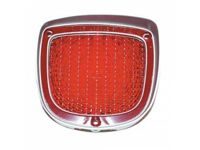 LENS, Tail Light, RH, US-made OE Correct Repro