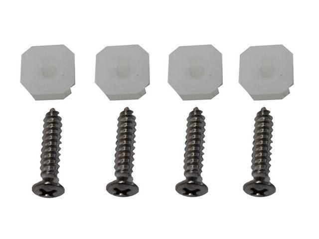 Fastener Kit, Head Light Bezels, (8) Incl Chrome