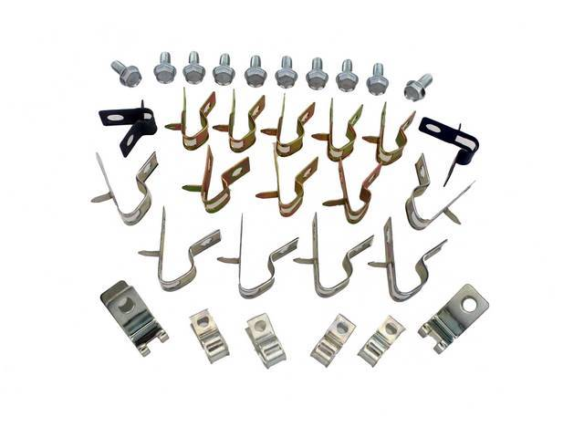 Clip Set Brake And Fuel Lines 32 Incl