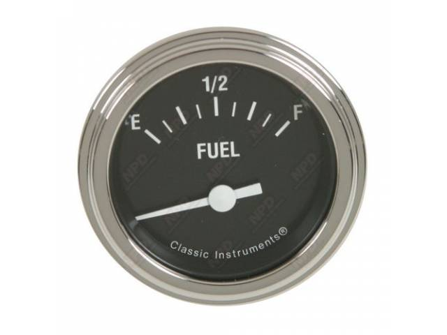 GAUGE, Fuel Quantity, Classic Instruments, Hot Rod series,
