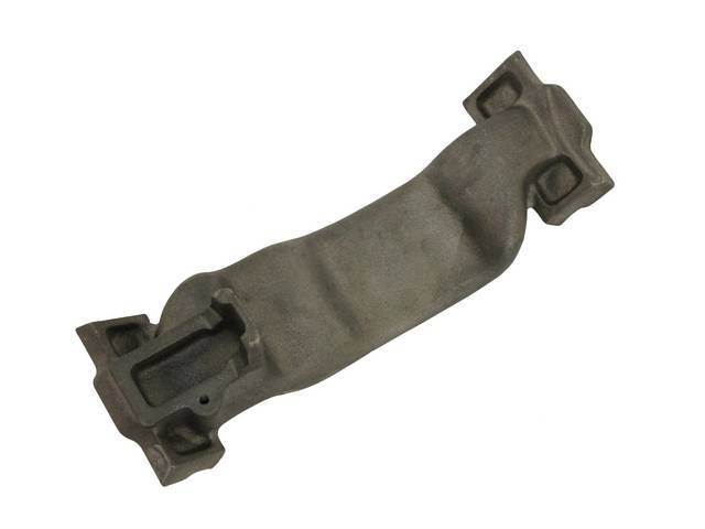 CROSSOVER, Intake, cast iron, used w/ Pontiac Ram Air or HO aluminum intakes, crossover provides heat for the carburetor choke thermostat coil, repro