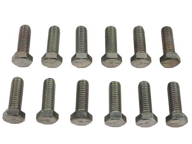 Fastener Kit, Intake Manifold, Cast Iron, (12) incl