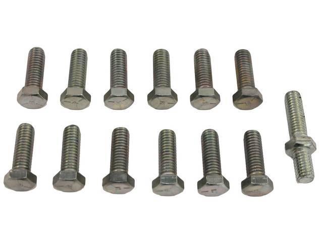Fastener Kit, Intake Manifold, Cast Iron, (13) incl
