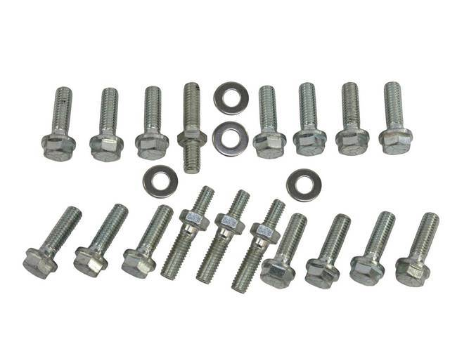 Fastener Kit, Intake Manifold, Aluminum, (18) incl bolts
