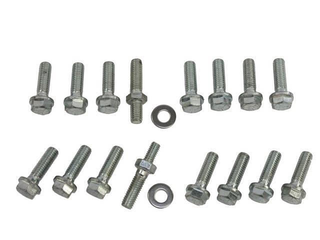 Fastener Kit, Intake Manifold, Aluminum, (17) incl bolts