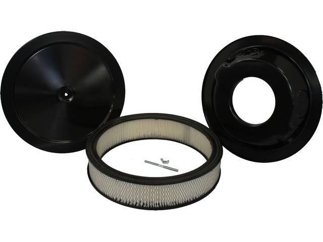 AIR CLEANER ASSY, Black, 14 inch O.D. x