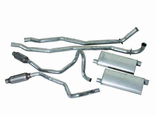 Exhaust System Dual Aluminized Incl Headpipes Mufflers And