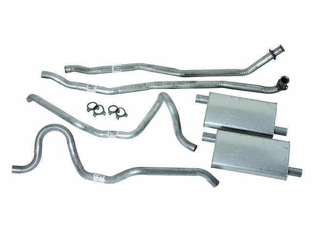 Exhaust System Dual Aluminized Incl Headpipes Mufflers Tailpipes