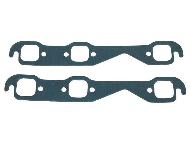 GASKET SET, Exhaust Header, 1.50 inch x 1.50 inch (stock port size), Fel Pro, Perforated Steel Core w/ anti-stick backing