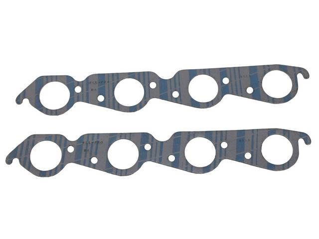 Gasket Set, Exhaust Header, 1.94 inch diameter (Most stock aluminum cylinder heads, round port shape), Fel Pro, Perforated Steel Core w/ anti-stick backing
