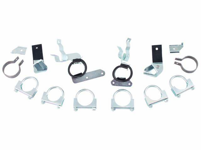 Hanger Kit Chambered Exhaust Incl Clamps 8 Front