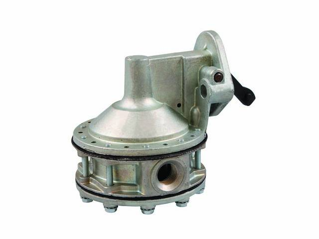 FUEL PUMP, Performance, AC Delco, natural finish, incl gasket