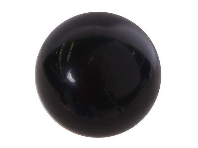 KNOB, Shift, white w/ 3 speed shift pattern in black, repro