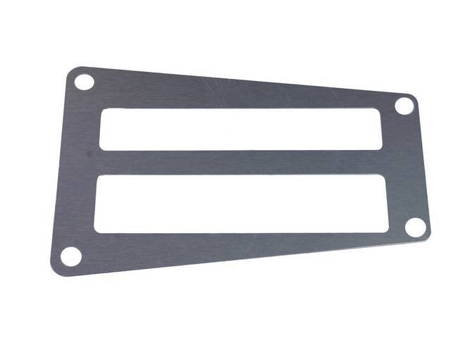 Insert A/T Shifter Plate Bright Aluminum Finish Repro