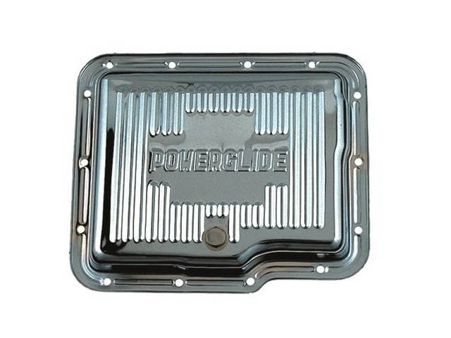 Oil Pan Transmission Stock Capacity W/ Finned Chrome