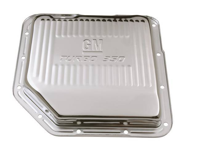 OIL PAN, TRANSMISSION, STOCK CAPACITY W/ STAMPED GM