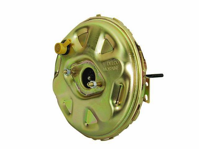 BOOSTER, Power Brake Vacuum, 11 inch, Gold Cadmium Finish w/ *Delco Moraine* stamp, US-Made, GM Licensed, New