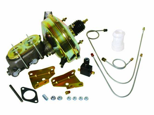 COMBO KIT, Booster and Master Cylinder, Gold Cadmium, Incl 9 inch booster and master cylinder, proportioning valve and small hard line kit, Street Bandit