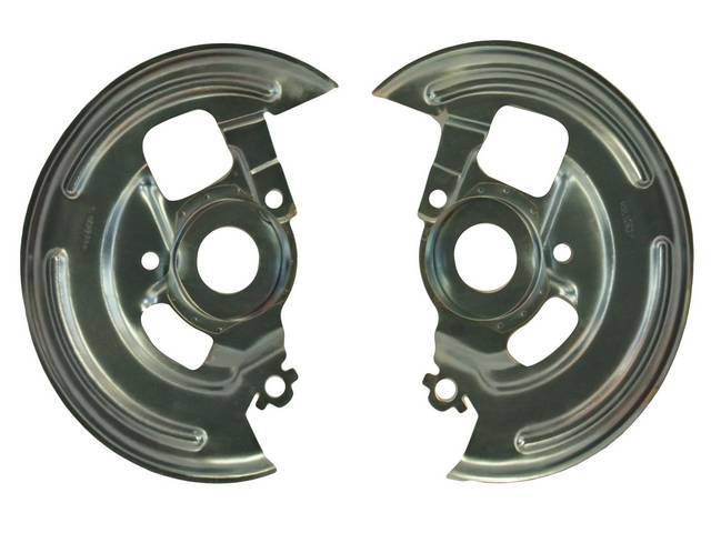 BACKING PLATE / SHIELD SET, Front Disc Brake Splash, concours correct repro