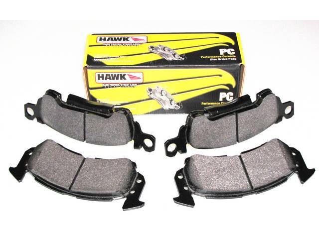 PAD SET, Disc Brake Caliper, Front, Hawk Performance, HPS Compound, Designed for daily street and mild track use, shorter stopping distance up to 40 percent over OE
