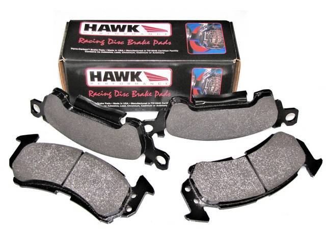 PAD SET, Disc Brake Caliper, Front, Hawk Performance, HP PLUS Compound, Designed for track use only