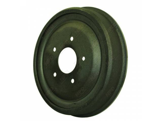 DRUM, Brake, Front or Rear, 11 inch diameter x 2 inch depth on shoe area, repro