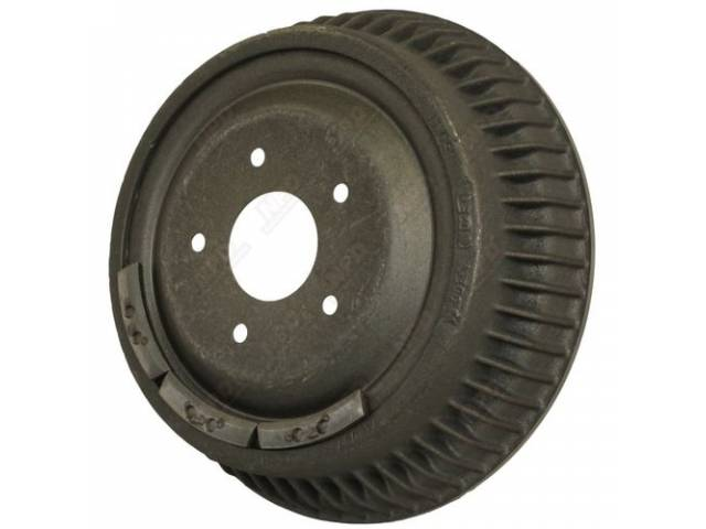 DRUM, Brake, Rear, 11 inch diameter x 2 inch depth on shoe area, repro
