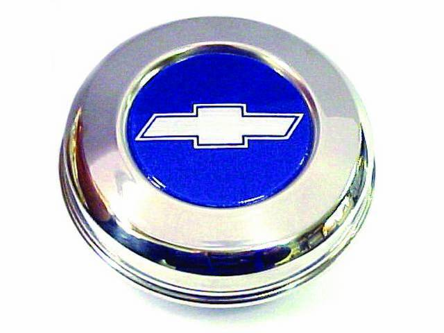 HUB CAP, Bowtie, Use W/ 5 Spoke Rally Wheels, Excellent Repro