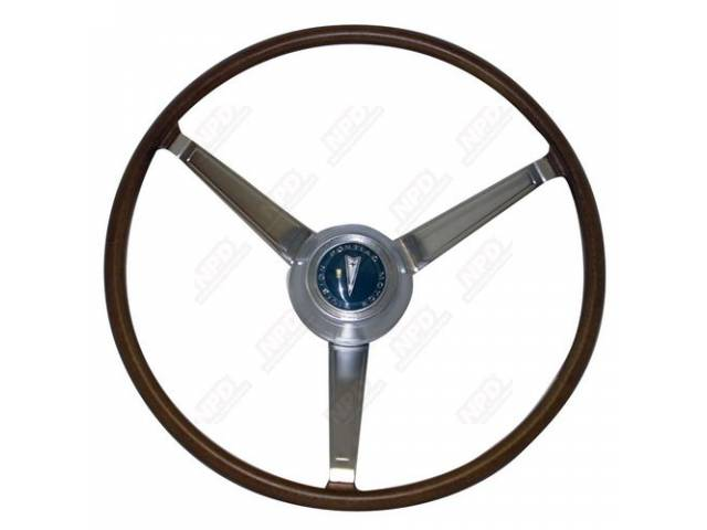 STEERING WHEEL KIT, Dlx Woodgrain 3 Spoke, kit