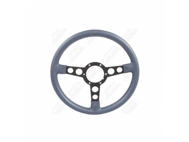 Steering Wheel Formula 3 Spoke Blue Cushion Rim