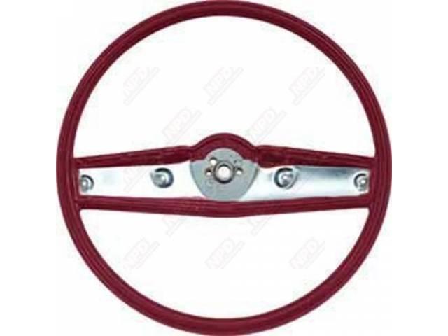 Steering Wheel Std 2 Spoke Red Repro See