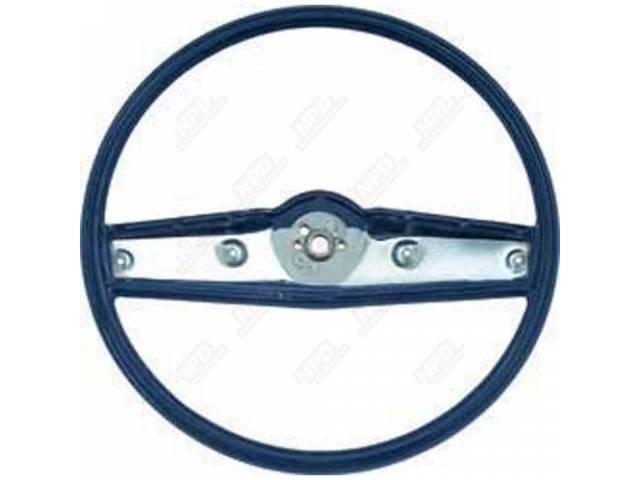 Steering Wheel Std 2 Spoke Dark Blue Repro