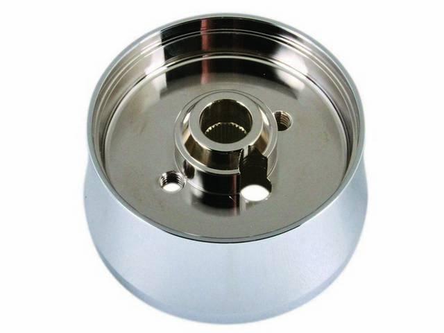 HUB, Steering Wheel, Custom billet aluminum chrome plated,