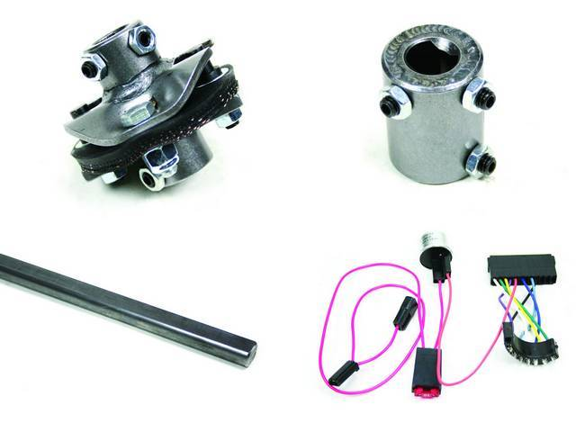 Installation Kit 1, Steering Column, IDIDIT, Incl 4-way flasher kit, shaft (3/4 inch DD x 36 inch), coupler and rag joint (both measure 3/4 inch DD x 3/4-36 inch spline)