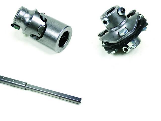 Installation Kit 1, Steering Column, IDIDIT, Incl 4-way flasher kit, shaft (3/4 inch DD x 36 inch), coupler (3/4 inch DD x 3/4 inch-36 spline) and rag joint (3/4 inch DD x 13/16 inch-36 spline)