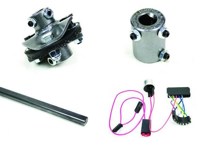 Installation Kit 1, Steering Column, IDIDIT, Incl 4-way flasher kit, shaft (3/4 inch DD x 36 inch length), coupler (1 inch DD x 3/4 inch DD), rag joint (3/4 inch DD x 3/4 inch-36 spline)