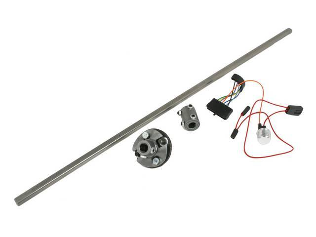 Installation Kit 1, Steering Column, IDIDIT, Incl 4-way flasher kit, shaft (3/4 inch DD x 36 inch length), coupler (1 inch DD x 3/4 inch DD), rag joint (3/4 inch DD x 13/16 inch-36 spline)