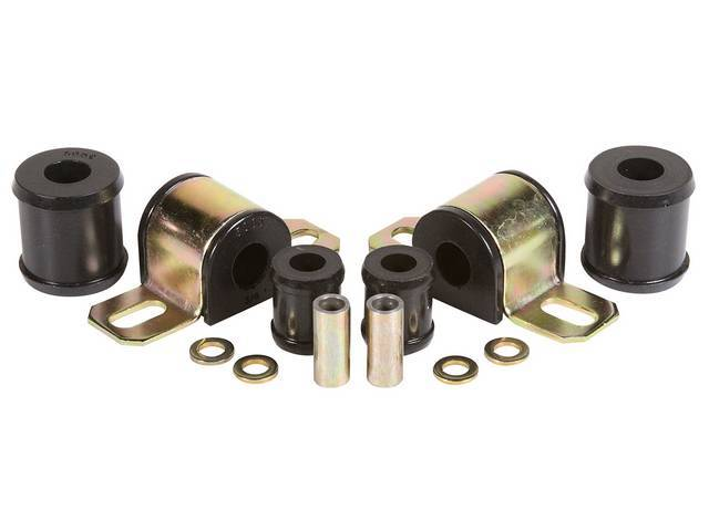 MOUNTING KIT, Sway Bar, Black Graphite Polyurethane, Energy Suspension, For Use W/ 3/4 Inch Bar and 1 Bolt Lower Clamp