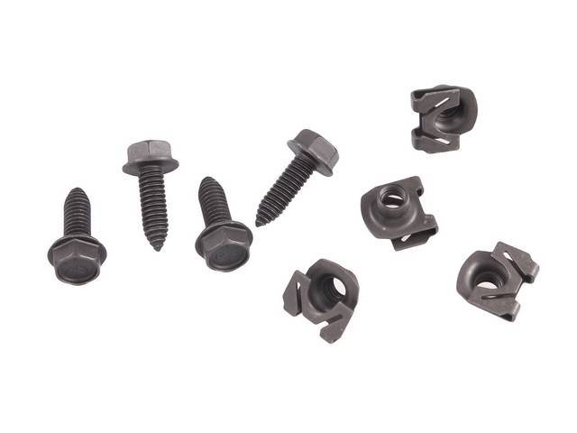 FASTENER KIT, Front Shock, Lower, (8) Incl HX