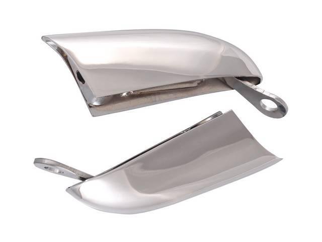 Bumper Guard Set Front Chrome Incl Brackets Repro