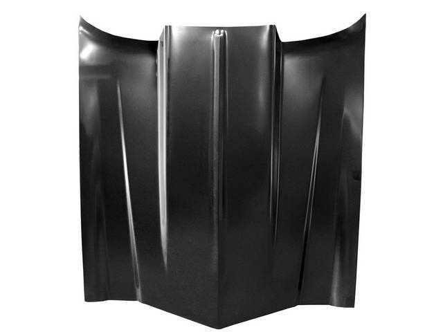 Cowl Induction Hood, 2-5/8 inch height, Excellent steel repro